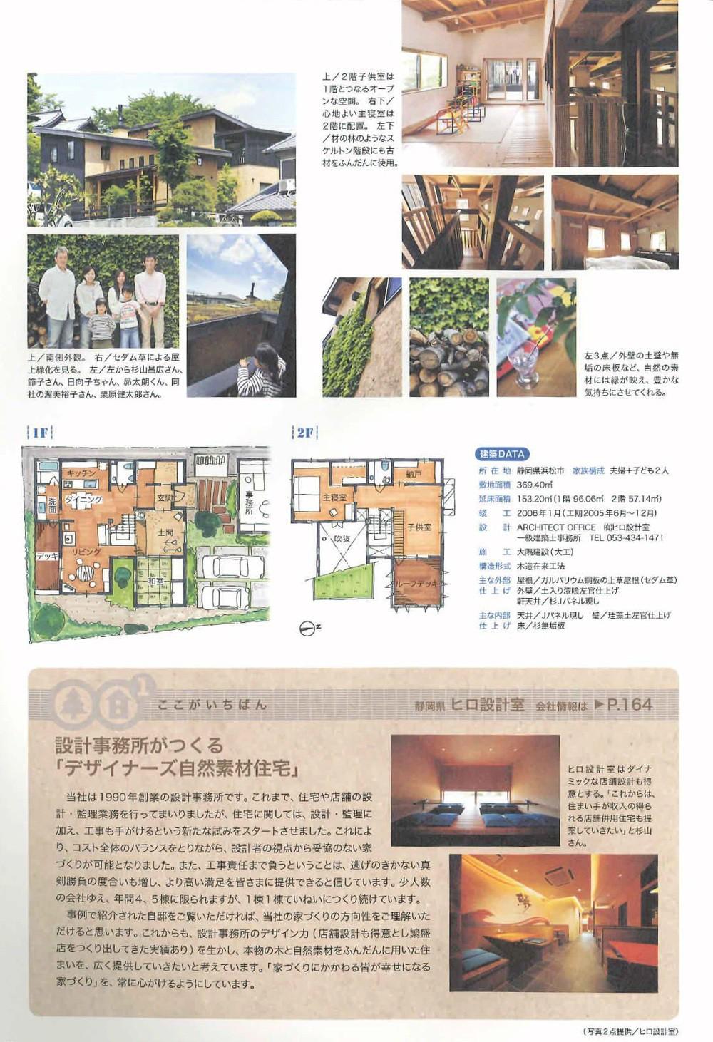 掲載された事務所併用住宅の記事
